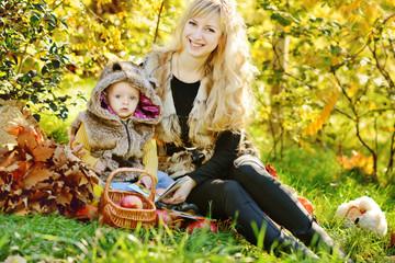 family in sunny november