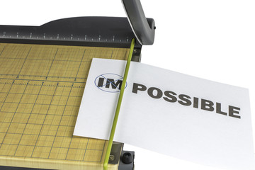 Making Impossible Possible Paper Cutter