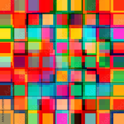 abstract colorful squares, geometric style colorful background