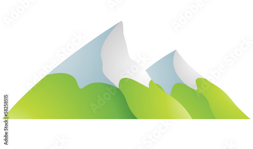 Snowy Mountains Cartoon