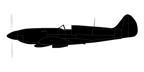 Fighter Plane Silhouette