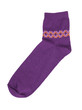 Purple knitted sock