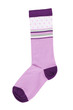 Pink knitted sock