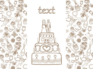 wedding card (coloring book)