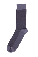 Long gray knitted sock