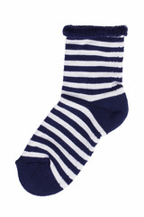 Dark blue knitted socks