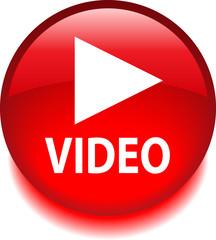 Круглый векторный знак с надписью VIDEO