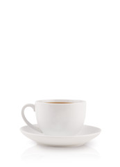 Coffee-cup with white copy space