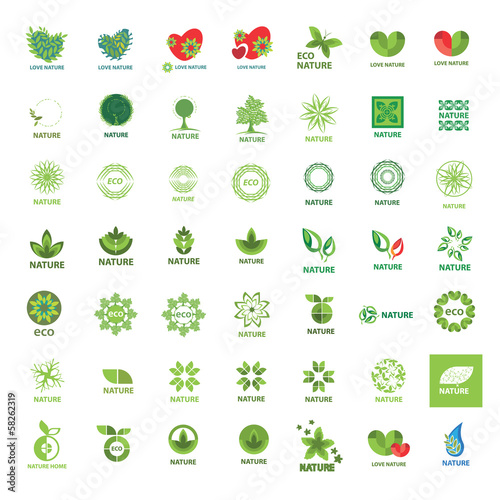 biggest collection of vector logos eco and nature