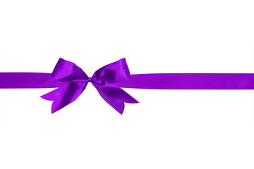 purple ribbon and bow