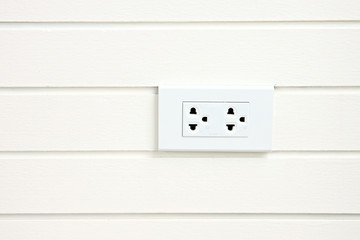 Power plug attached to walls.