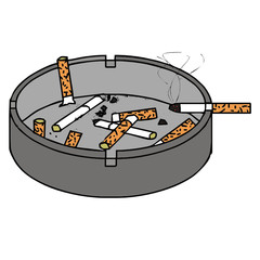 Ashtray vector illustration