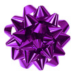 purple bow isolated - 58264719