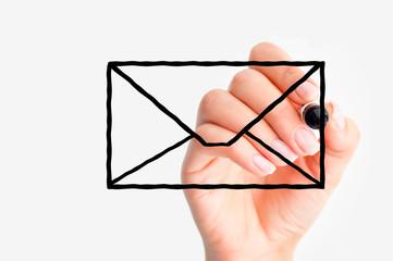 E-mail us concept