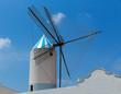 Menorca Sant Lluis San Luis Moli de Dalt windmill in Balearic