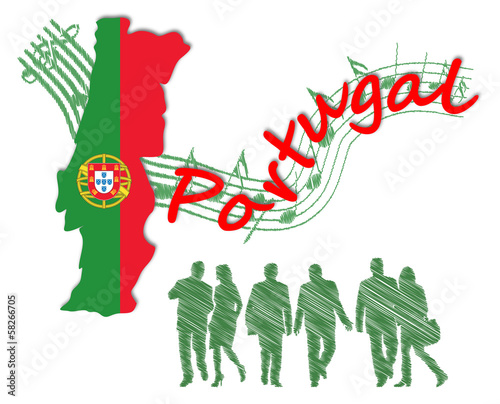 Illustration of Portugal and Portuguese people