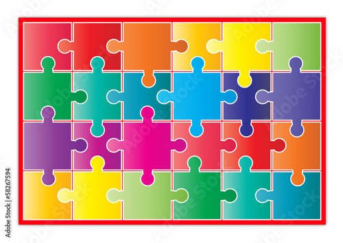 Puzzle, symbol of successful diversity