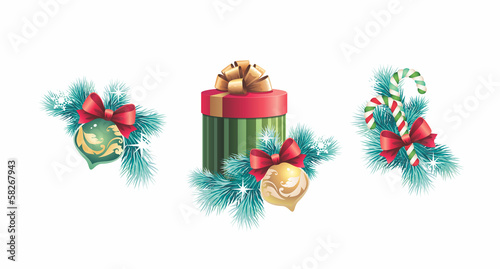 Christmas decoration design elements set