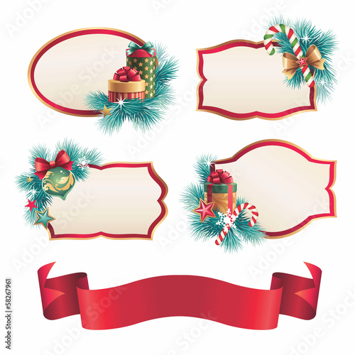 Christmas assorted banners and stickers set