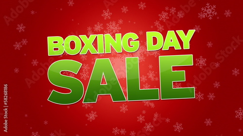 Boxing Day Sale Advertisement