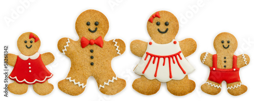 Papiers peints Biscuit Gingerbread family