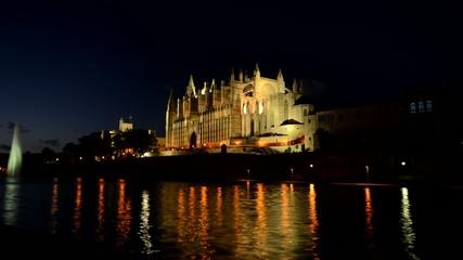 Zeitrafferaufnahme der Kathedrale in Palma Mallorca