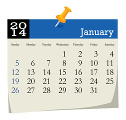 calendar 2014 january