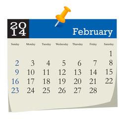 calendar 2014 february