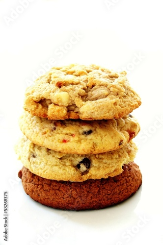 cookie selection isolated on white background