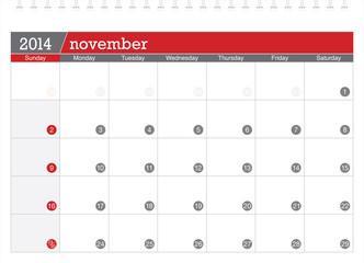 november 2014-planning calendar
