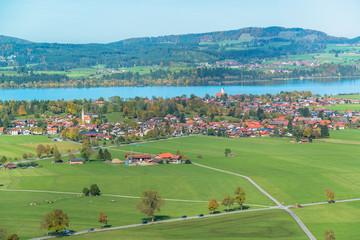 Bavaria landscape from Neuschwanstein castle