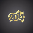 Gold 2014 black background vector