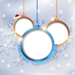 merry christmas snow background