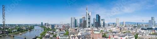 canvas print picture Frankfurt Skyline
