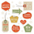 Stickers and Labels for Christmas and New Year