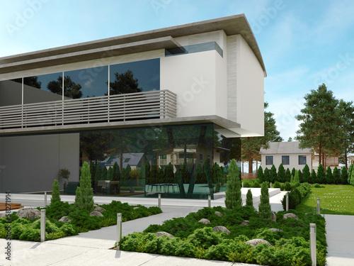 Modern design house exterior / contemporary villa