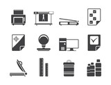Silhouette Print industry Icons - Vector icon set 2