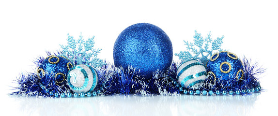 Composition of the Christmas decorations isolated on white