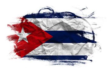 Grunge Cuban flag