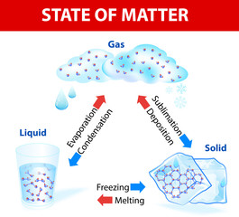 State of matter. Vector diagram