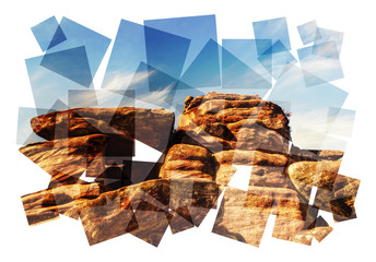 rock sky collage