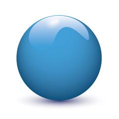 Blue glossy ball