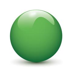 Green glossy ball
