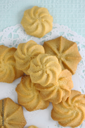 The different shape of butter cookies
