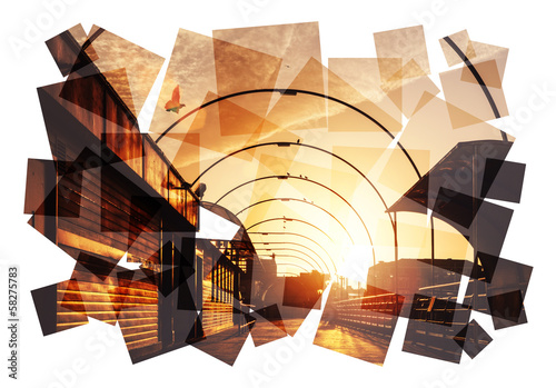 sunset arches collage