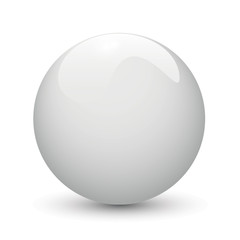 White glossy ball