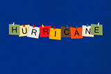 Hurricane - sign series for weather conditions - storms and high