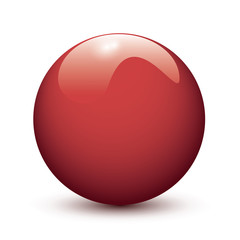 Red glossy ball