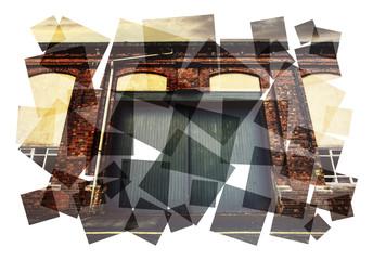 urban warehouse collage