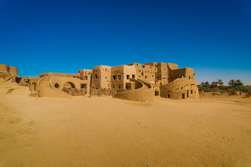 Berber style traditional building in Siwa Oasis Egypt